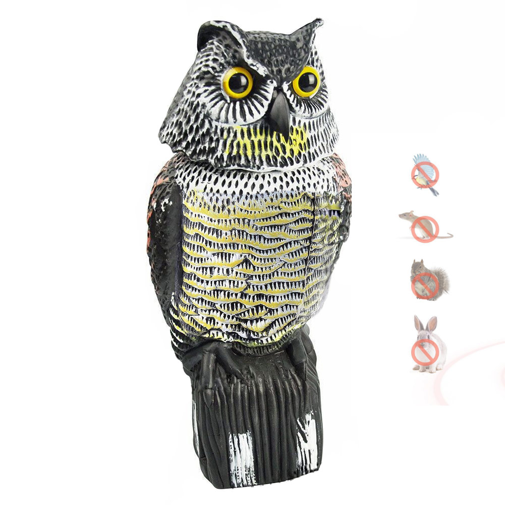 Bird Pest Control Products Scarecrow Owl Decoy Motion-Activated Pest Deterrent Repellent can CSVBird Pest Control Products Scarecrow Owl Decoy Motion-Activated Pest Deterrent Repellent can CSV