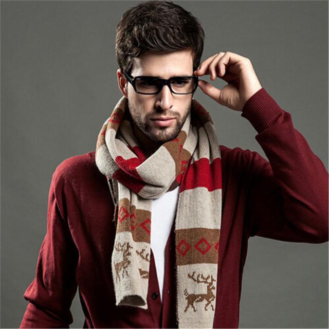 Muchacho de Los Hombres de moda de Lana Artificial Bufandas Del Mantón Sólido Envolver Hiyab Bufanda Del Diseño Clásico Otoño Invierno Paseos Al Aire Libre 6 colores