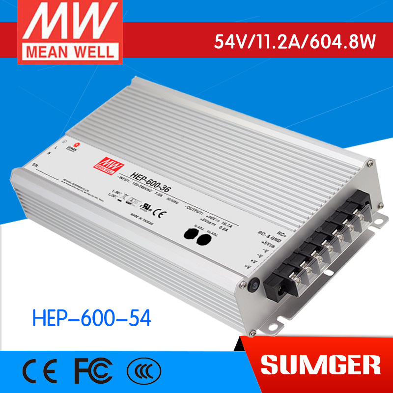все цены на 1MEAN WELL original HEP-600-54 54V 11.2A meanwell HEP-600 54V 604.8W Single Output Switching Power Supply онлайн
