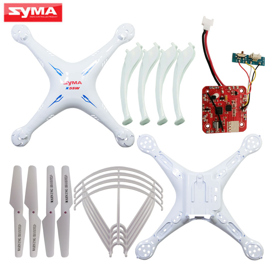 Syma Original Shell For X5SC X5SW RC Helicopter its Main body + Propeller blades + PCB Circuit board Quadcopter Spare Parts syma x8hg x8hw x8hc pcb receiver main board gear spindle sleeve iron needles lampshade blade covers rc helicopter spare parts