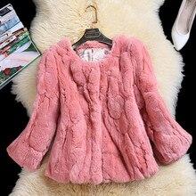 rabbit fur coats women real rabbit fur jacket2016 New