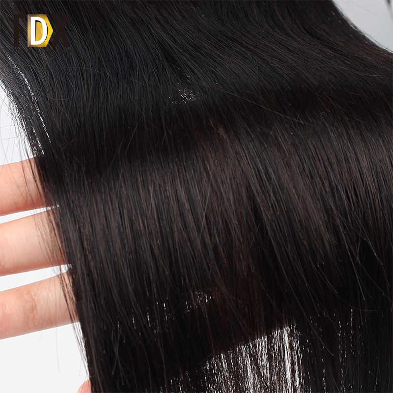 FDX индийские волосы прямые Реми шелковистые Инструменты для завивки волос 28 30 32 38 inch 100 человеческих волос Связки Natural двойной уток 1/3/4 bundlels дело
