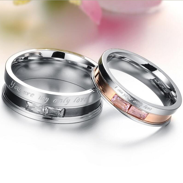 Fashion Jewelry Stainless  Wedding  Ring