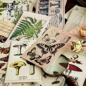 30 hojas/Paquete de tarjetas coleccionables Vintage, hoja de papel musical, postal, Mensaje de cumpleaños, ramo, tarjeta de felicitación, regalos artesanales de Navidad