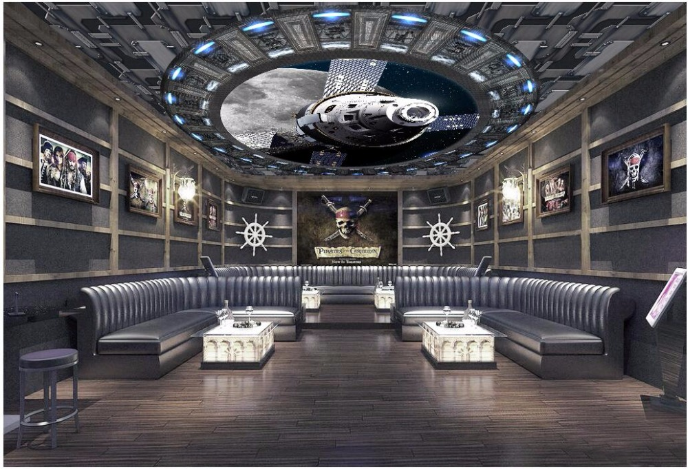 WDBH custom photo 3d ceiling murals wallpaper Spaceship space planet home decor 3d wall murals wallpaper for living room wall 3d custom 3d stereo ceiling mural wallpaper beautiful starry sky landscape fresco hotel living room ceiling wallpaper home decor 3d