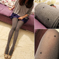 Free shipping Elegant linen grayrestoring ancient ways The thin velvet jacquard Silk stockings