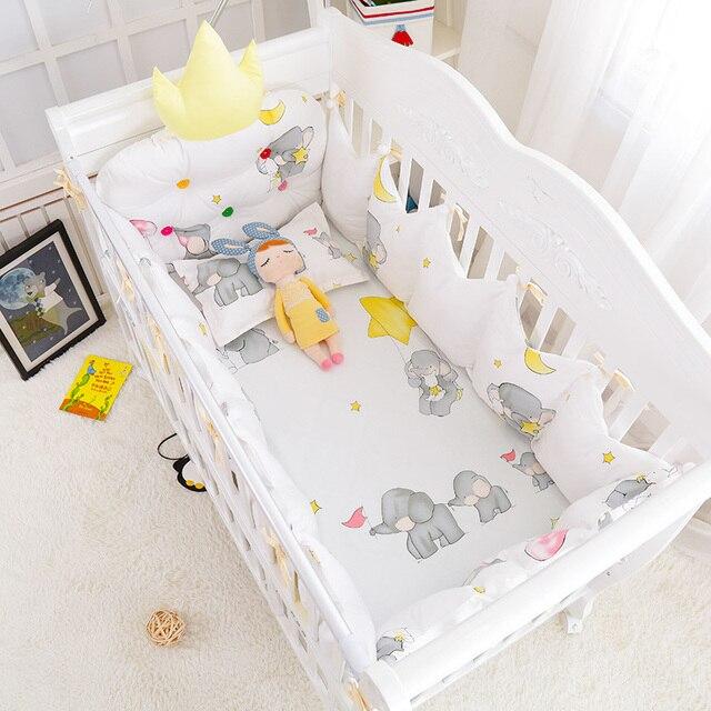 5 Teilesatz Winter Warme Baby Bett Baumwolle Bettwäsche Crown Form