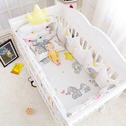 5 unids/set invierno cálido bebé cama de algodón Forma de Corona proteger parachoques bebé juego de cama cuna ropa de cama 4 colores Multi tamaño