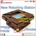 Hottest 80mm/90mm BGA Reballing Estação produto da Patente Auto ajustar Ímã quatro cantos