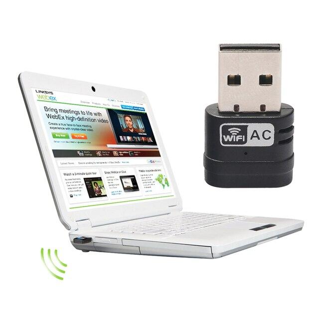Горячие Продажи Мини-ПК wifi адаптер 433 Мбит USB Wi-Fi антенны Беспроводной Сетевой Плате Компьютера 802.11ac/a/b/g/n LAN Продвижение Новый
