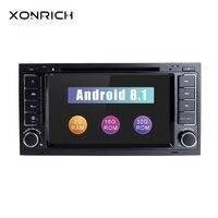 Xonrich Автомобильный мультимедийный плеер Android 8,1 2Din DVD Авторадио для VW Volkswagen Touareg Transporter T5 gps навигации Audio2G Оперативная память