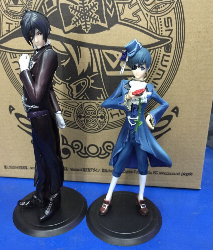 Hot Item 2pcs/set Black Butler Ciel Sebastian Action Figures PVC brinquedos Collection Figures toys christmas gift Free Shipping туфли item black item black it004awqic28