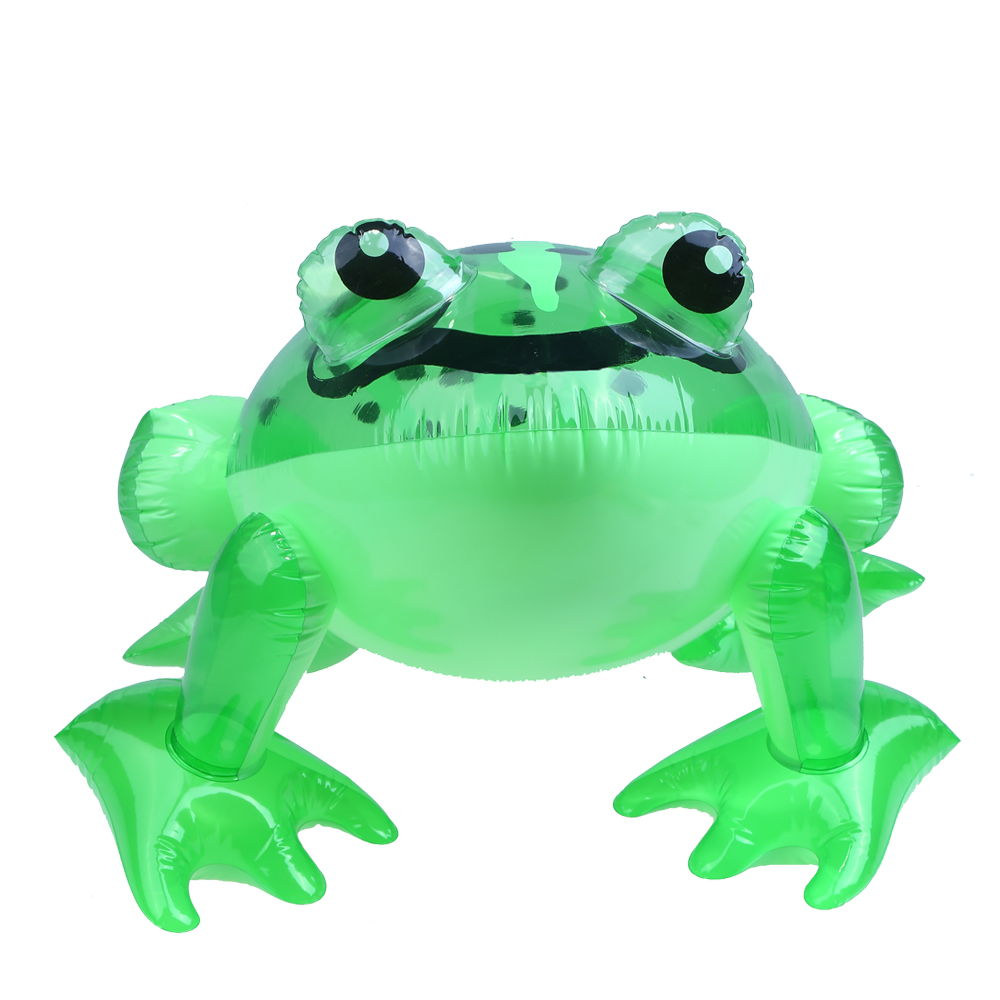 1pcs Friendly PVC Frog Inflatable Toys Children Green Frog Shaped Balloons Inflatable Cartoon Animals Toy for boy New Years Gift