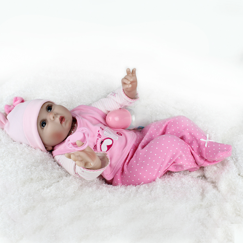 цены 22 inch 55 cm soft silicone Reborn baby toys Doll Clothes body vinyl girl dolls toys for kids Bebe New born Doll Accessories kit