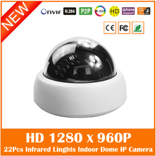 Hd 960p Dome Ip Camera Indoor Infrared Light Night Vision Motion Detect Cctv Surveillance Security Webcam Freeshipping Hot
