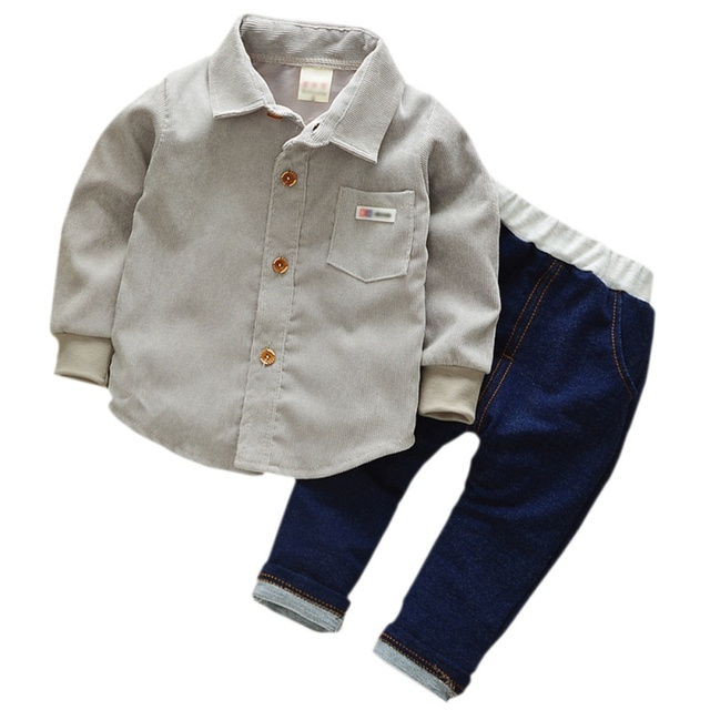 c8571c4f52e3 Baby Clothing Sets Kids Clothes Autumn Baby Sets Kids Long Sleeve Sports  Suits Bow Tie T-shirts + Pants Boys Clothes