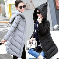 Grande tamanho 3XL Mulheres jaqueta de Inverno Jaqueta de Algodão 2017 Novo cor sólida Com Capuz Mulheres Casaco Elegante Moda Mulheres Jaqueta de Algodão T