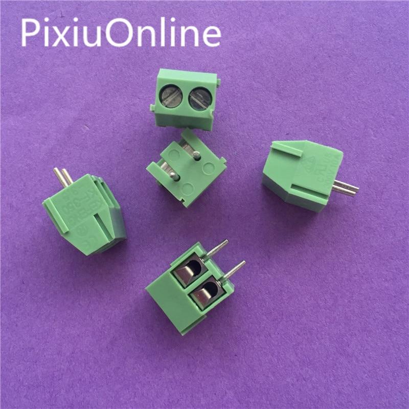 10PCS YT2037 MG/KF350-2P/3P Green Pin Screw Terminal Block Connector KF350  3.5mm Pitch amphenol connector 250V/10A