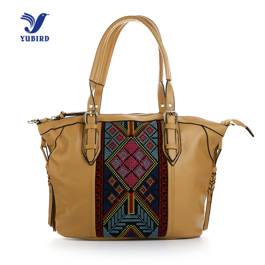 YUBIRD Fashion Top-Handle Bags National Style Embroidery Women Handbags Ladies Hand Bags Casual Bag 2017 High Quality chinese national style 2017 women bags casual bag top handle bag high quality soft pu zipper versatile one sequined belt