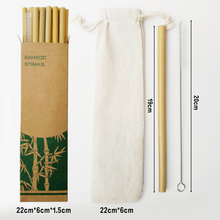Bamboo Straws With Cleaner Travel Eco Portable Reusable Bamboo Cutlery With Bag Chopsticks Fork Spoon Knife Set wooden tableware portable bamboo korean cutlery set wooden tableware knife fork spoon set with eco friendly bamboo straw for travel cutlery set