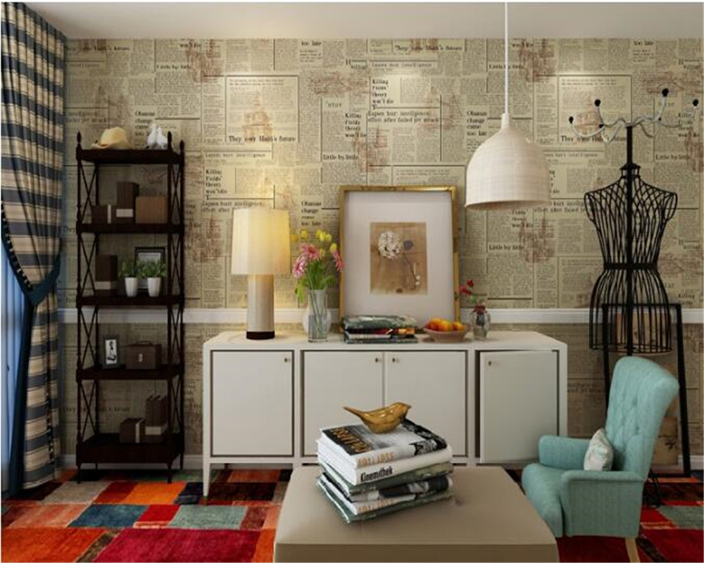 beibehang American retro papel de parede 3d wallpaper nostalgic English newspaper background Clothing Store Bar Cafe Wall paper beibehang do the old newspaper paper english newspaper news pvc wallpaper library coffee shop restaurant background wallpaper