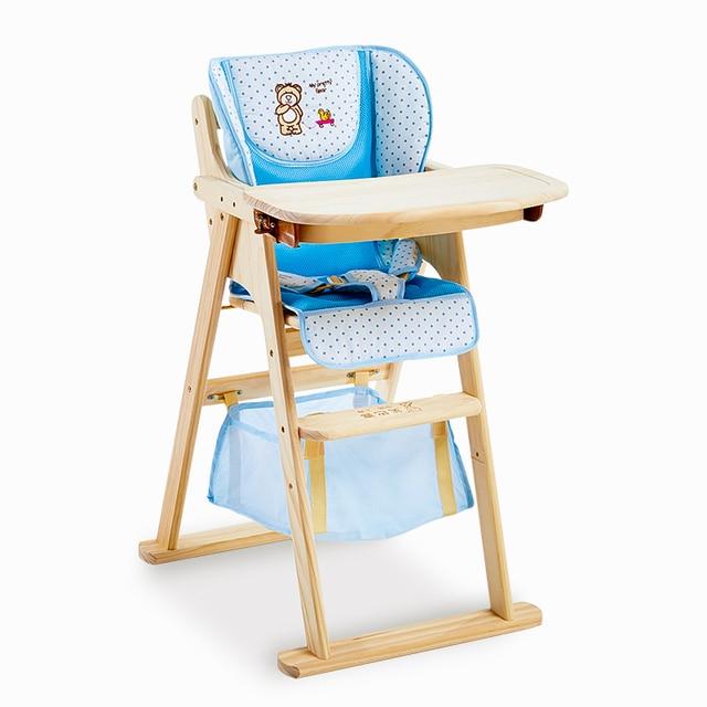 Новое прибытие детские Обеденный Стул деревянный Материал Здоровый Естественный Портативный Голдинг Детское Питание Стул