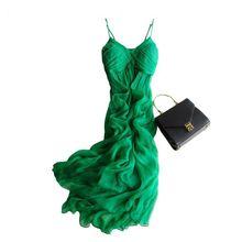 Bohemia full dress beach dress long design silk one-piece dress
