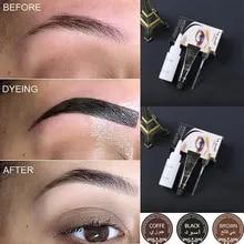 e32cd8ddd Professional Series Henna Eyelash Eyebrow Dye Tint Gel Eyelash Brown Black  Color Tint Cream Kit,
