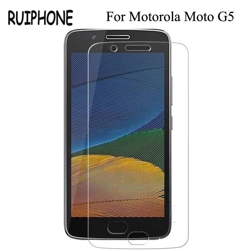RUIPHONE Tempered Glass for Motorola Moto G5 Screen Protector 9H 2.5D <font><b>Phone</b></font> <font><b>Protection</b></font> <font><b>Film</b></font> for Moto G5 Tempered Glass