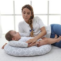 Portable Baby Pillow Multifunctional Nursing Pillow Pads Crib Travel Folding Baby Bed Bag Infant Cradle Anti Roll Pillows