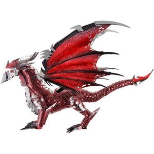 Image 2 - 2019 Piececool 3D Metal Puzzle The Black Dragon Model DIY Laser Cut Assemble Jigsaw Toy Desktop decoration GIFT For Audit kids