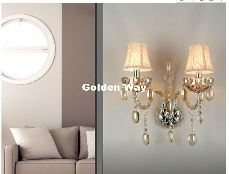Modern Cognac Color K9 Crystal Design Wall Lamp K9 Crystal Wall Lamps Bedroom Headboard Bedside Lamp Wall Sconce Light Fixture new arrival modern crystal wall lamp jade glass wall lamp with k9 crystal wall sconce lighting 1 light and 2 light free shipping