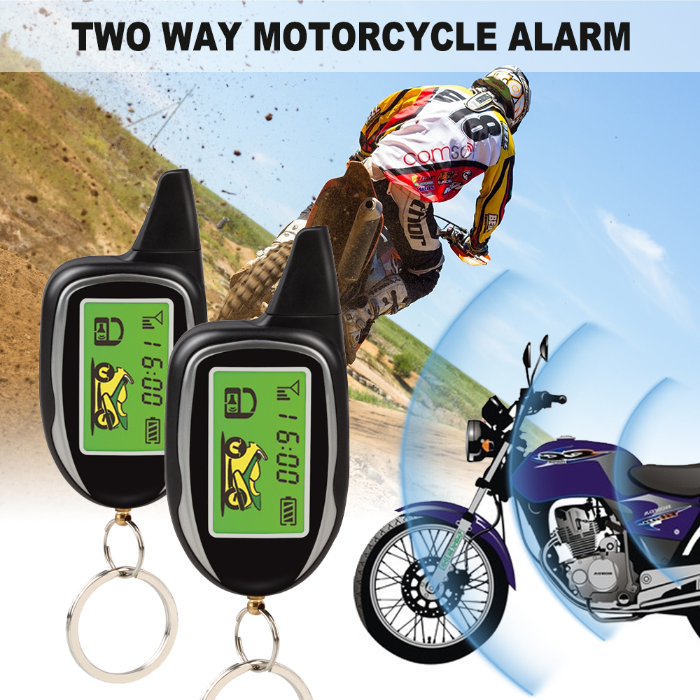 2 Way Motorcycle Alarm System Remote Control Engine Start
