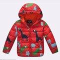Миньон дети пуховик для мальчика ребенка миньон зимней одежды вниз теплый ребенок Snowsuit девушки детей с капюшоном полупальто
