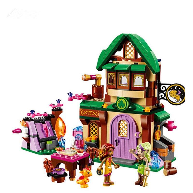 348 pcs Diy Amis Série Elfes Le Starlight Inn Kits Minis Blocs Compatible Avec Legoingly Brique Jouets Pour Enfants Brinquedos