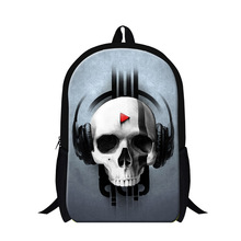 Trendy Fashion Skull 3D Print Backpack Children School Bags For Teenagers Boys Cool Bone Men's Casual Traveling Shoulder Bags