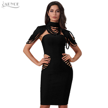Adyce 2018 New Fashion Spring Dress Women Red Hollow Out Sleeveless Mini Bodycon Bandage Dress Evening Party Dress Vestidos