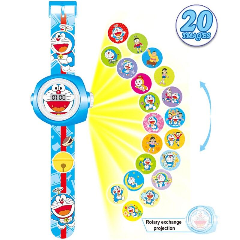 2019 New Stylish 3D Doraemon Cartoon Projection Watch Children Kids Digital Wrist Watches Clock Gift