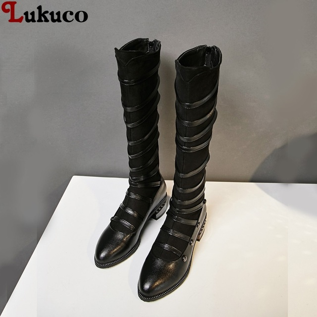 7a632a152 Lukuco Knee High Mortorcycle Boots Large Size 39 40 41 42 43 44 45 46 47