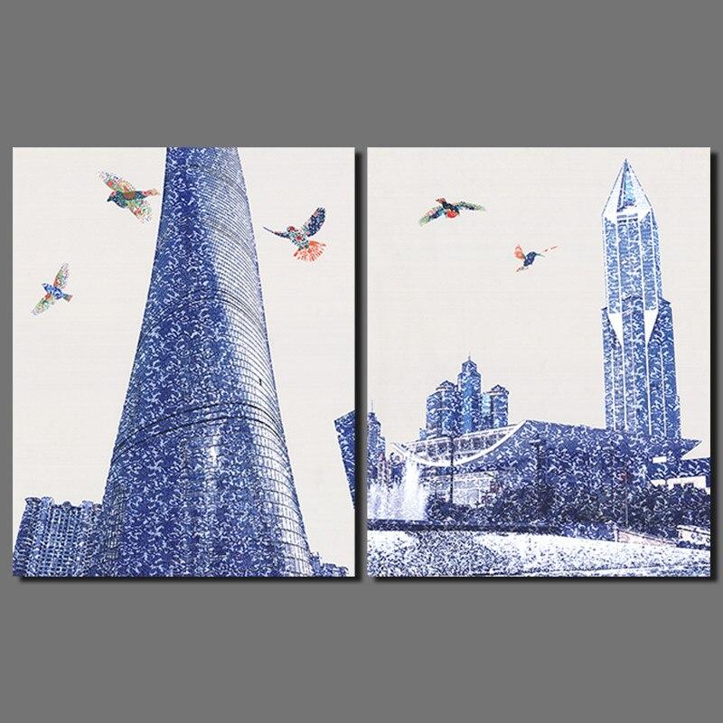 Achetez en gros gratte ciel photos en ligne des for Decoration murale ville
