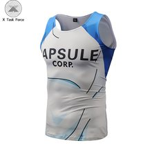 Nuevo Bragon Ball Z camisetas sin mangas Bardock Armor camiseta Cool Fitness culturismo chaleco hombres mujeres Hipster 3D DBZ camisetas X Task Force(China)