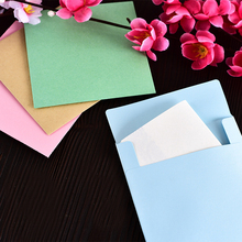 10pcs/lot 10*10cmSolid Color Simple Kraft Paper Small Envelope Color Creative Postcard Greeting Card Stationery Storage