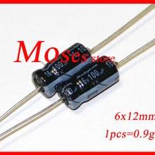 16v 100 мкФ Аксиальный электролитический конденсатор постоянной ёмкости, универсальный конденсатор 6x12 мм(20 штук