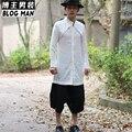 Новый 2016 мужская одежда Летом рубашки мужчина средней длины жидкости с длинным рукавом рубашки китайском стиле вентиляционные тонкий рубашка Певица костюмы