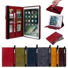 Case Voor ipad air 3 2019 Cover voor ipad pro 10.5 2017 2019 Met Potlood Houder Portemonnee Card Multifunctionele Funda Tablet stand Shell