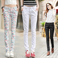 2016 spring and summer Casual Harlan thin Camouflage female women girls skinny pencil pants trousers clothing clothes