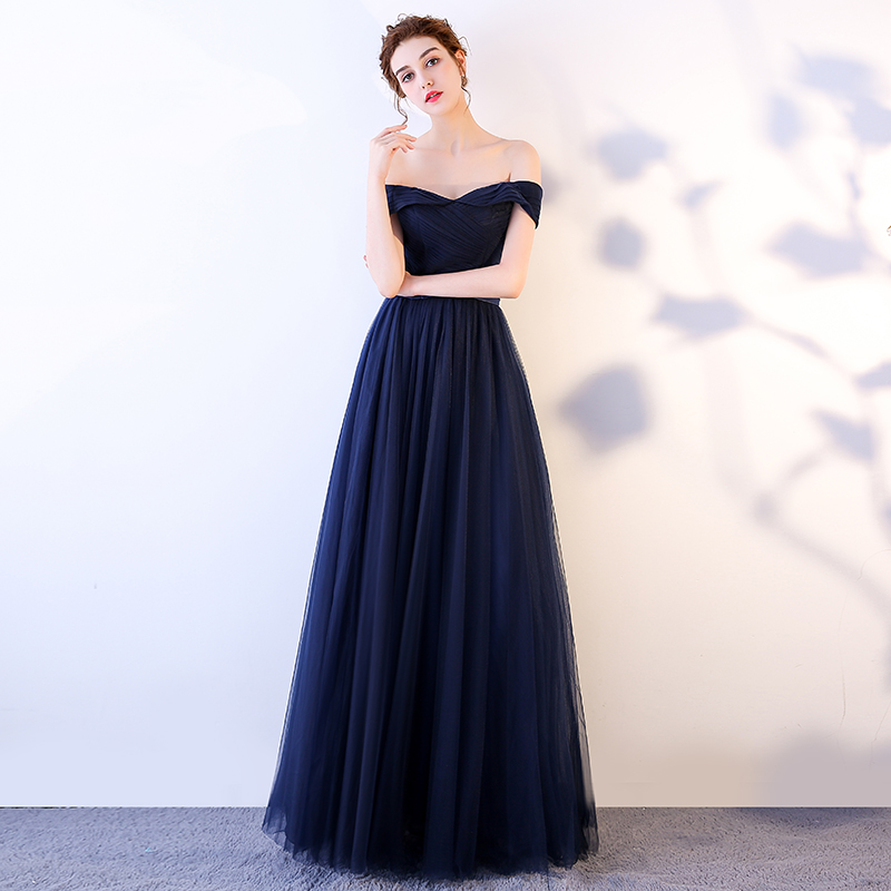 Beauty Emily Royal Blue Elegant Lace Up Long Evening Dresses 2019 Formal Party Prom Women A line