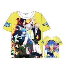 Japan Anime DRAMAtical Murder T-shirt Men Women Short Sleeve Summer dress Seragaki Aoba Cartoon Tops Unisex Cosplay t shirt