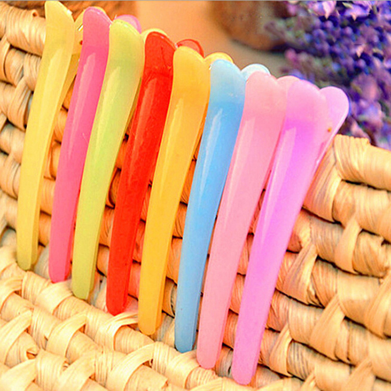 10pcs Hair Clip Plastic Professional Hairdressing Cutting Salon Styling Tools Section Hair Clips Colorful Clamps  madam t по2572 12 багда