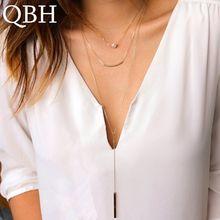Collier à multicouches pour femmes NK1084, chaîne à tubes en perles, collier Long avec pendentif, clavicule, ras du cou